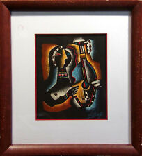 """Neal Doty """"Monterey Jazz""""with frame Hand Signed Artwork MAKE AN OFFER"""
