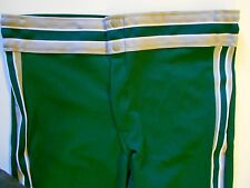 "Nos Vtg 80s Rawlings Men's Baseball Pants Size Adult Med 34""-36"" Green Gray Usa"