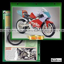 #027.12 Fiche Moto APRILIA RS 250 V 1991 Compétition Racing Motorcycle Card
