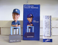 Don Mattingly Los Angeles Dodgers Manager Bobble Bobblehead SGA with GAME TICKET