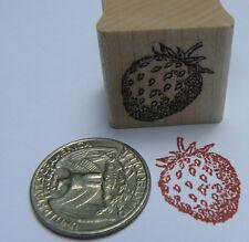 "P24 Miniature strawberry rubber stamp Wm 0.6x0.8"""