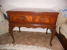 Vintage wooden decorative HALL SIDE TABLE with drawer & opening top