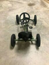 green pedal powered go kart for kids (good condition) size: small.