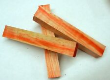 """Box Elder w Red Dye (1 pc) Pen/Reel/Razor Blank 1""""sq x 6"""" - 1242"""