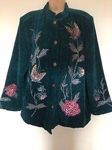 Classy Indigo Moon Evening Jacket Size 20/22. XL
