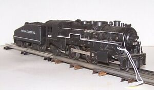 "O Gauge MARX #1666 2-4-2 Steam Engine w/Penn Tender ""Smoker"" Lot A21-4"