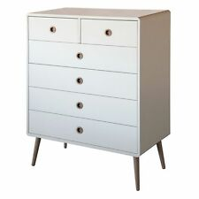 Softline 2+4 drawer chest-nordic scandinavian-bedroom furniture-white