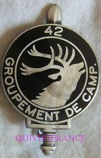 IN18463 - INSIGNE 42° Groupement de Camp, cerf, dos lisse plat