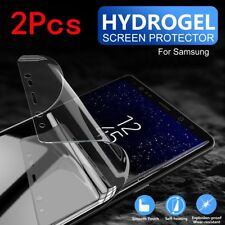 2Pcs Samsung Galaxy S9 S8 Plus Note 9 HYDROGEL FLEXIBLE Crystal Screen Protector