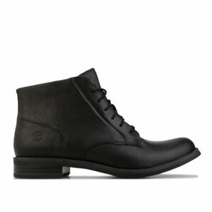 Women's Timberland Magby Mid Leather Upper Lace Up Boots in Black
