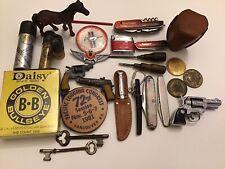 New listing Vintage Junk Drawer Lot, Knives, Lead Horse, Daisy B.Bs Cap Guns