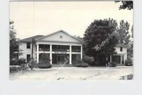 RPPC REAL PHOTO POSTCARD INDIANA LAKE WAWASEE HOTEL OAKWOOD STREET VIEW