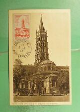 DR WHO 1947 FRANCE TOULOUSE CHURCH MAXIMUM CARD  g19474