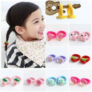 10Pcs Bulk Candy Baby Girl Hair Band Elastic Hair Ropes Rubber Band Headwear Set