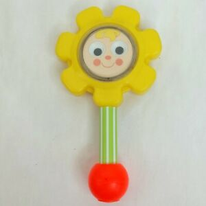 Fisher Price Flower baby rattle toy Vintage 1973 1970s