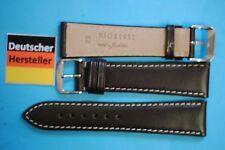 Juchten Bio Lederband 22/18mm  dunkelbraun  Deutscher Hersteller