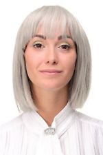 Ladies' Wig short Bob Long Bob Fringe Smooth Grey Silver-Grey 7803-51 Women