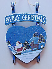 """18"""" Santa Claus figure Christmas at the beach with picnic basket"""