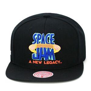 Mitchell & Ness X Space Jam Snapback Hat Cap - Black