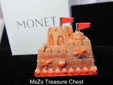 "Rare MONET ""SAND CASTLE""  Collectible Enamel Keepsake Trinket Box   ** NIB **"