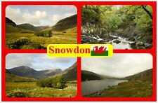 SNOWDON, WALES - SOUVENIR NOVELTY FRIDGE MAGNET - SIGHTS & FLAG - NEW / GIFT
