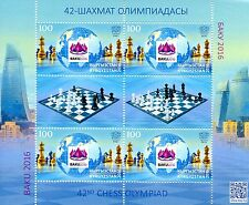 Kyrgyzstan KEP 2016 MNH 42nd Chess Olympiad Baku 4v M/S + Labels Stamps