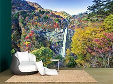 Trees In Japan Waterfall Colourful Wall Mural Photo Wallpaper GIANT WALL DECOR