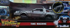 DeLorean Ritorno al Futuro 2 Versione Volante LED Blu  Scala 1:21 Die Cast Jada