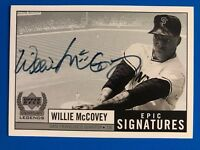 1999 Willie McCovey Century Legends Epic Signatures Autograph Auto Card WMc (b)