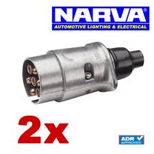 NARVA 7 Pin Large Round Metal Trailer Plug 82161BL