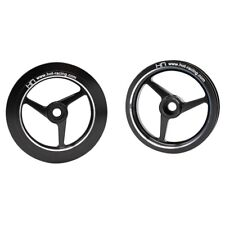 Hot Racing HOR51301 1/8 Kyosho Motorcycle Black Aluminum 3-Spoke Wheel Set