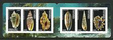 Polinesia Francesa 2017 estampillada sin montar o nunca montada Conchas Sea Shells COQUILLAGE 6v S/un folleto sellos