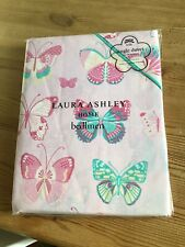 Laura Ashley Pink Butterfly Single Bedding - Duvet and Pillowcase - NEW