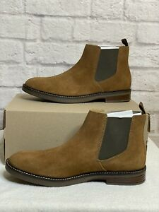 Clarks Paulson Up Dark Tan Suede Leather Boots Sz 10 Mens New NWB