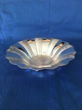 Vintage ? WMF IKORA Germany polished brushed silverplate footed bowl EP brass