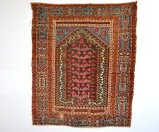 Circa 1800's !! Magnificent Antique Anatolian Prayer Rug With Rare Incriptions