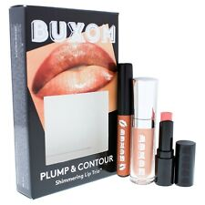 Buxom Plump & Contour Shimmering Lip Trio Travel Set NIB