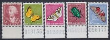 Suiza im nº 648 - 652 ** ur bajo margen, pro preconiza 1957, correos frescos, mnh