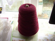 500g cone of Hush knit fine crepe in a colour called Kir for machine knitting