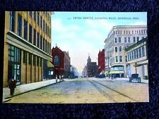 Early 1900's Fifth Street, Looking West in Meridian, MS Mississippi PC