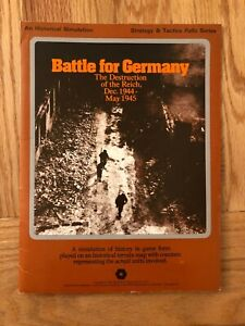 Battle for Germany Strategy & Tactics Folio Series UNPUNCHED by SPI