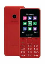 "New Launch Philips Xenium E168 Unlocked Dual SIM-Camera-2.4"" QVGA TFT-Red"
