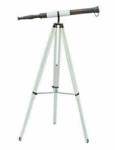 Marine Telescope Spyglass 39 Inch With Wooden Tripod Stand