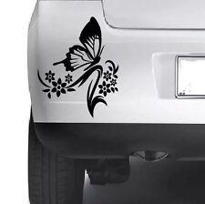 BUTTERFLY FLOWER VINYL STICKER Car Bumper Van Window Wall Laptop JDM DECALS