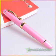 Jinhao x450 Fountain pen Fashion Lady Pink Golden pen clip M nib free shipping