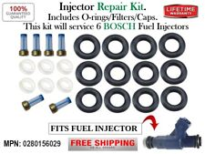 Repair Kit for 6 Fuel injector #0280156029 Bosch O-rings/Filters/Caps