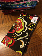 Vera Bradley 1 retro swirly flower floral PUCCINI Dinner Fabric Napkin NEW NWT