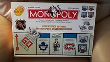 PARKER BROTHER NHL MONOPOLY COLLECTOR EDITION Board Game HOCKEY BiIingual FRENCH