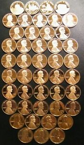 1968~2021 S Lincoln Penny Choice ~ Gem Proof Run 57 Coin Decade Set US Mint Lot