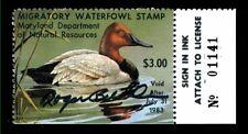 1982 Maryland State Duck Stamp Signed by Artist Roger Bucklin Ognh